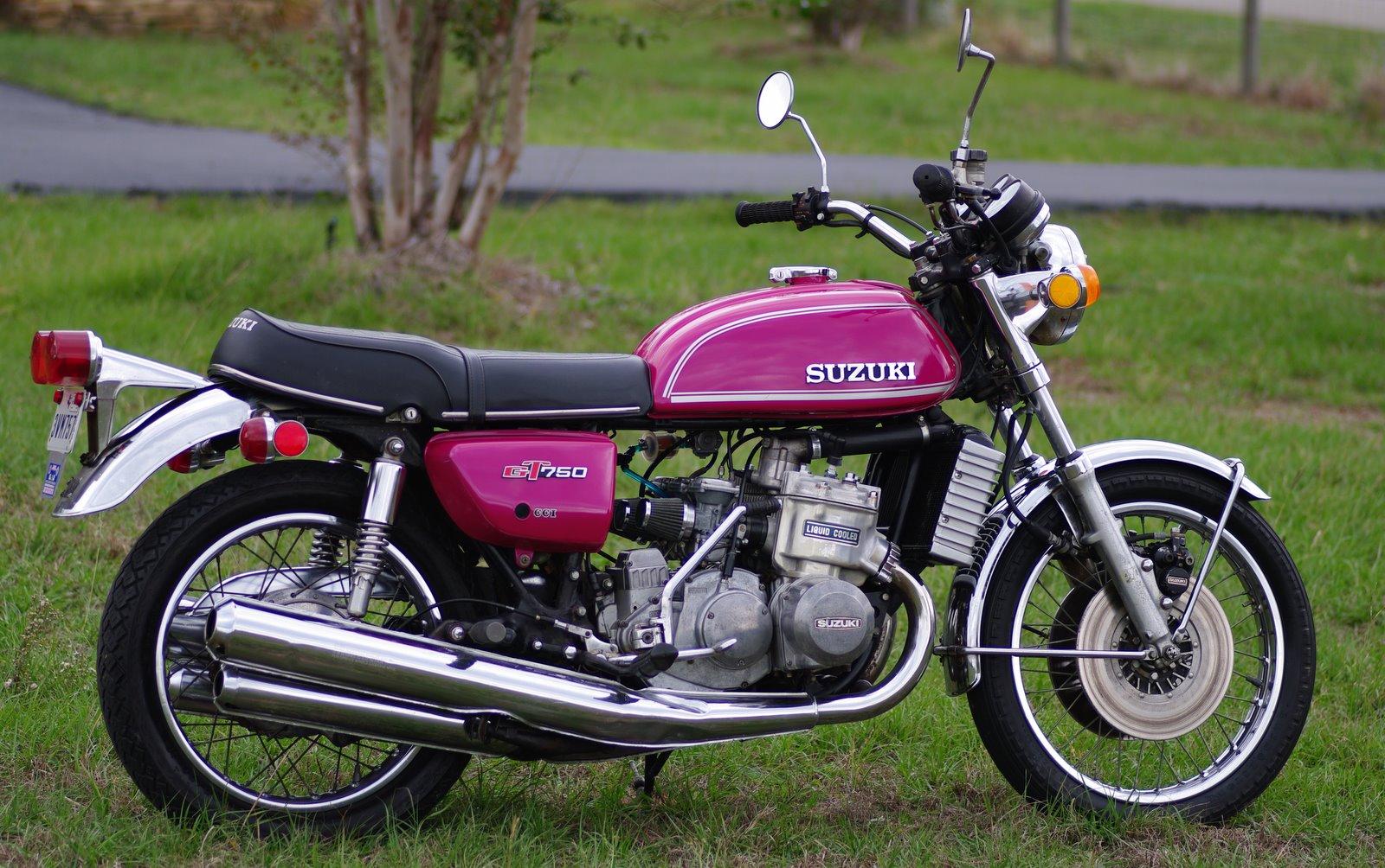 Vintage Suzuki Motorcycle 74